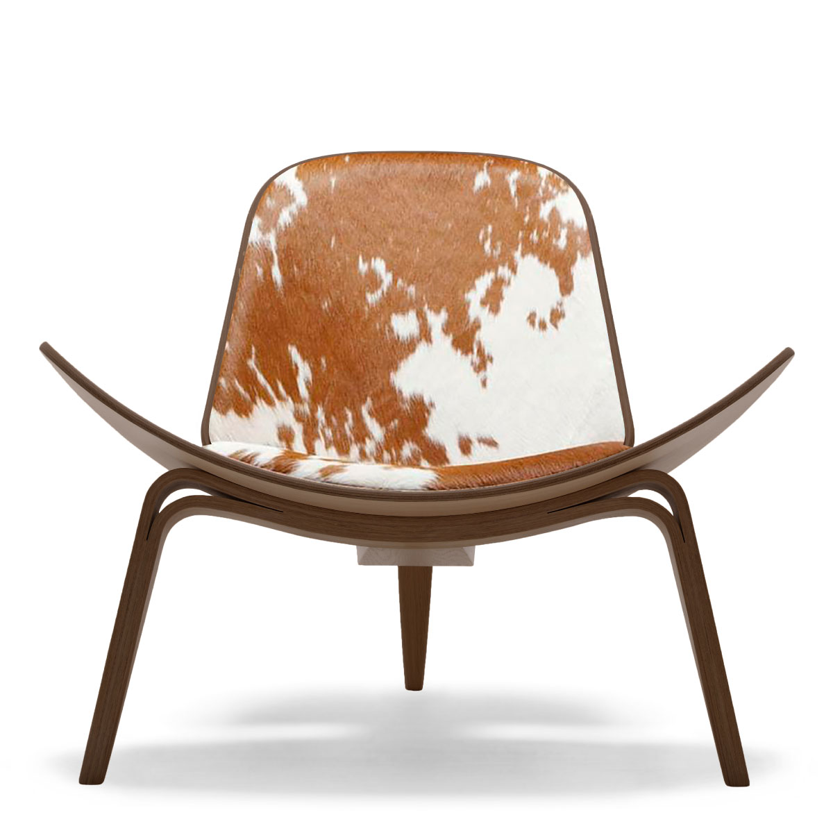 Awe Inspiring Carl Hansen Son Ch07 Shell Chair Walnut Lacquer Brown Squirreltailoven Fun Painted Chair Ideas Images Squirreltailovenorg
