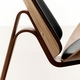 CH07 Shell Chair, Walnut Lacquer, Thor 301 Leather