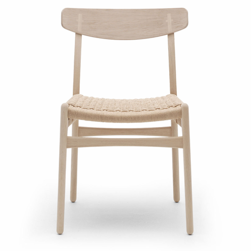 Carl Hansen & Son CH23 Dinning Chair, Oak Soap, Natural Paper Cord