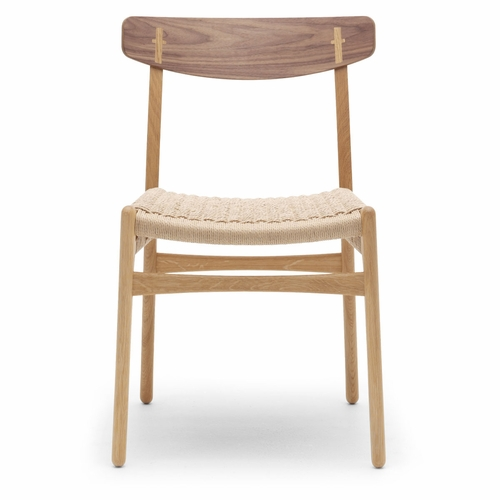 CH23 Dinning Chair, Oak/Walnut Mix Oil, Natural Paper Cord Seat