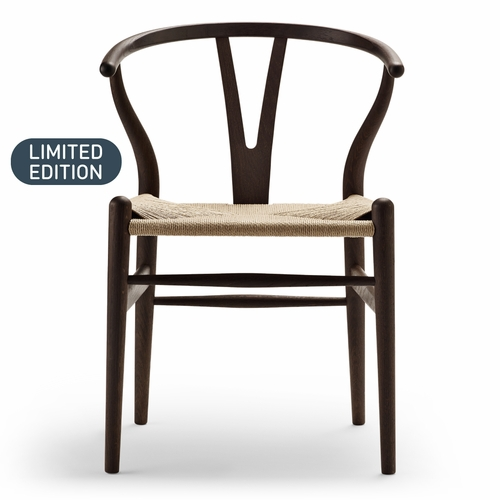 CH24 Wishbone Chair, Ancient Oak Oil, Natural Paper Cord Seat, Set of 2