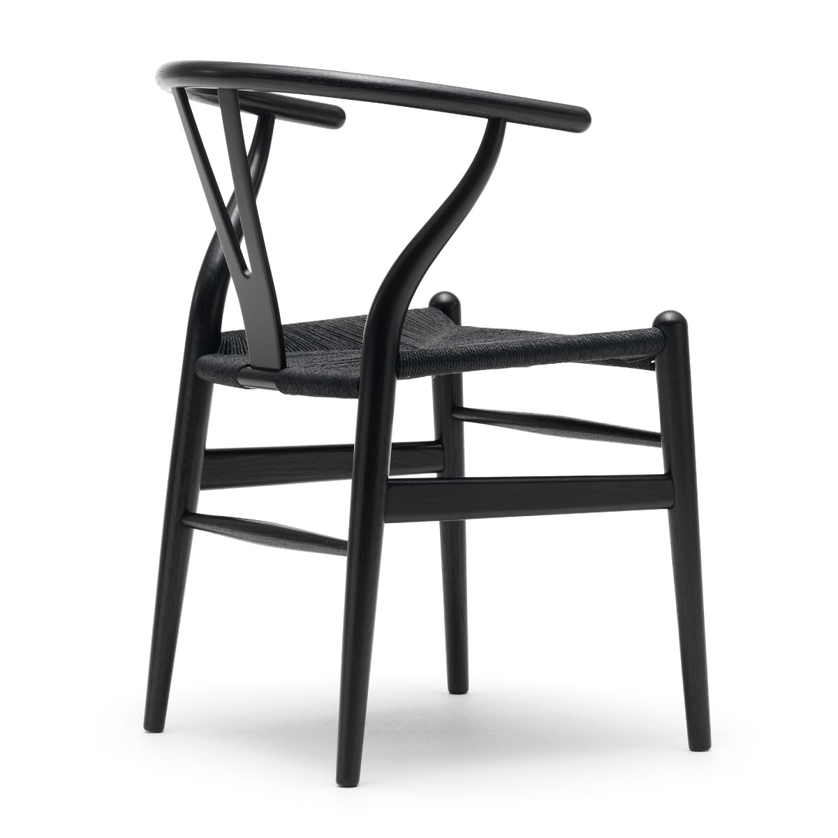 Ch24 Wishbone Chair Black Oak Paper Cord Seat