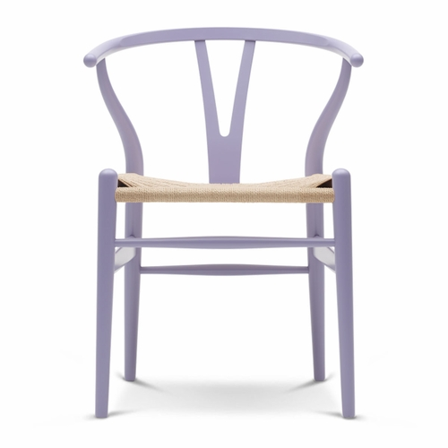 Carl Hansen & Son CH24 Wishbone Chair, Light Purple, Natural Paper Cord Seat