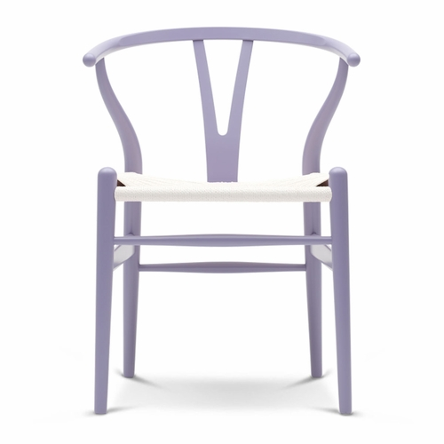 CH24 Wishbone Chair, Light Purple, White Paper Cord Seat