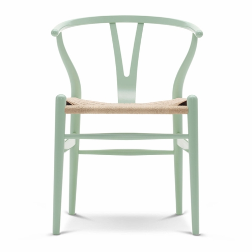 CH24 Wishbone Chair, Mint Green, Natural Paper Cord Seat