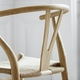 CH24 Wishbone Chair, Natural White, Black Paper Cord Seat