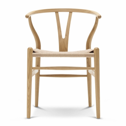 CH24 Wishbone Chair, Oak Lacquer, Natural Paper Cord Seat