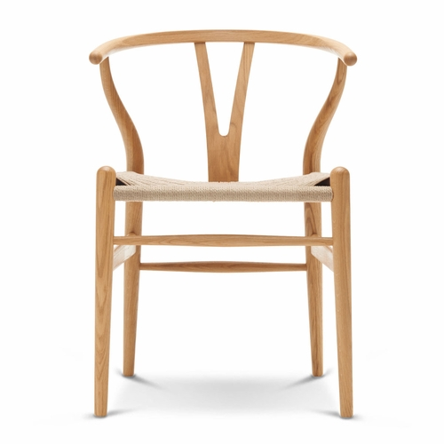 CH24 Wishbone Chair, Oak Oil, Natural Paper Cord Seat - Quick Ship