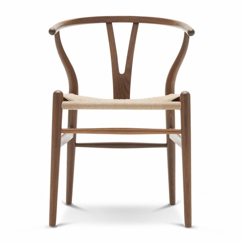 CH24 Wishbone Chair, Oak Smoked Oil, Natural Paper Cord Seat