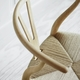 CH24 Wishbone Chair, Petrol Blue, White Paper Cord Seat
