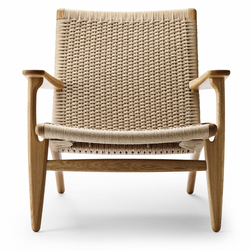 Quickship: CH25 Easy Chair, Oak Oil, Natural Papercord Seat