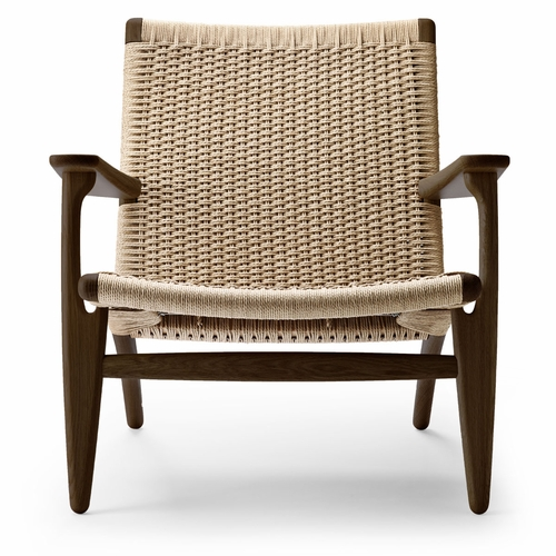 CH25 Easy Chair, Oak Smoked Oil, Natural Papercord Seat