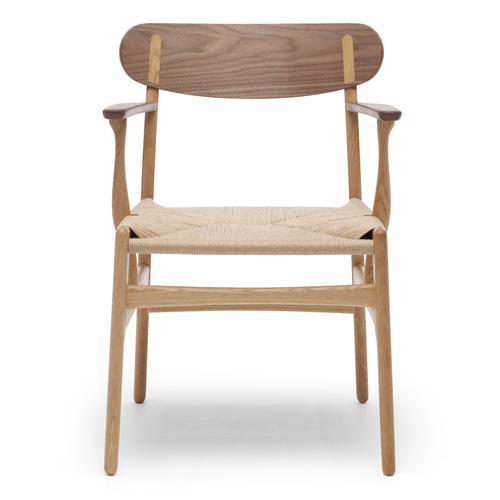 CH26 Dining Chair, Oiled Oak/Walnut Mix, Natural Paper Cord