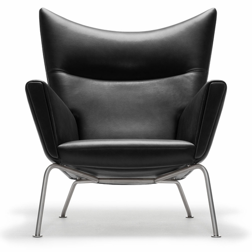 Carl Hansen & Son Hans Wegner CH445 Wing Chair, Thor 301 Leather