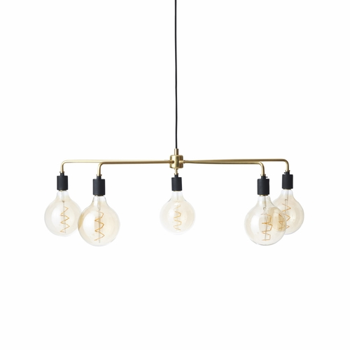 Chambers Chandelier, Brass, 30""