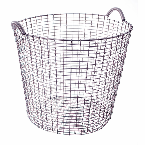 Korbo Classic Basket 17.25 Gallons (65 Liters), Stainless Steel