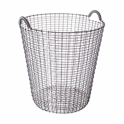Korbo Classic Basket 21.25 Gallons (80 Liters), Stainless Steel