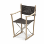 Classic Folding Chair, Oak/Leather