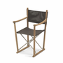 Classic Folding Chair, Teak/Leather