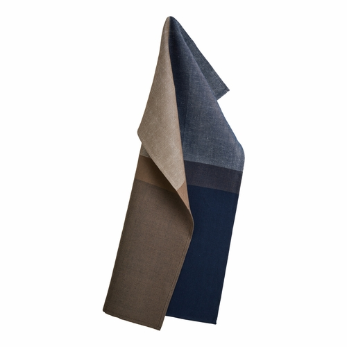 Colourblock Tea Towel, Deep Blue