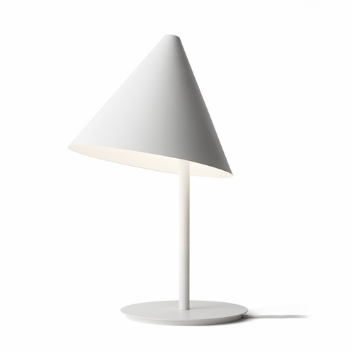 Conic Table Lamp, White