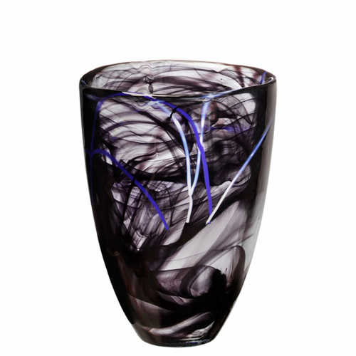 Contrast Vase Black, Small