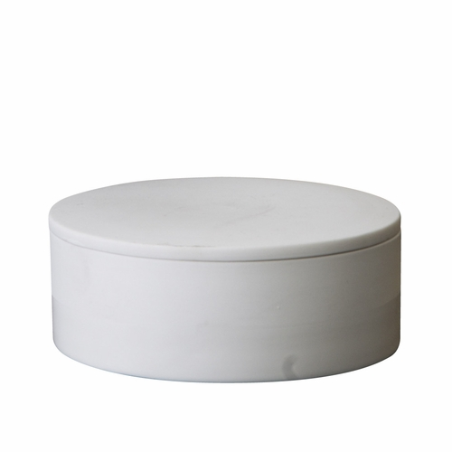 Cylindrical Container with Lid, White