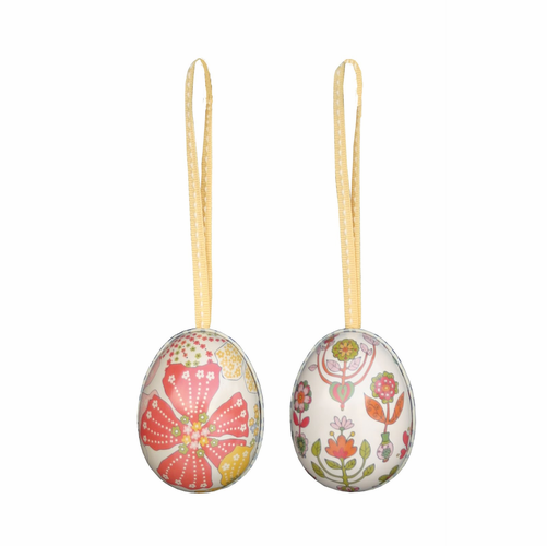 Danish Metal Easter Eggs - Set of 2 - SOLD OUT