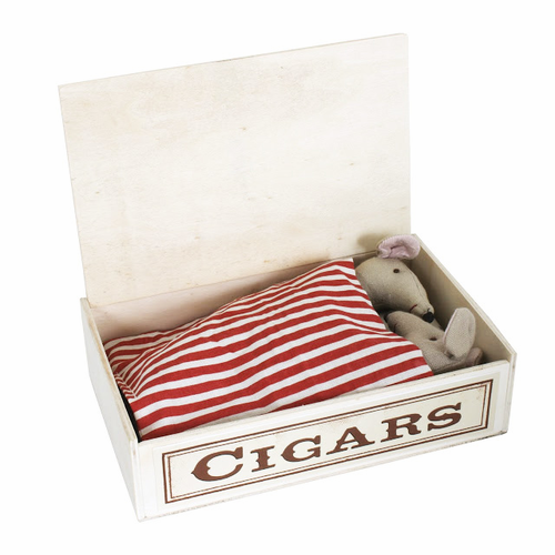 Danish Mother and Father Mice in Cigar Box - SOLD OUT