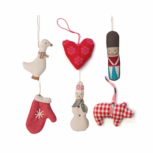Danish Ornaments - set of 6