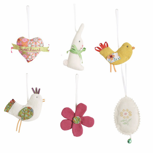 Danish Spring/Easter Ornaments, Set of 6