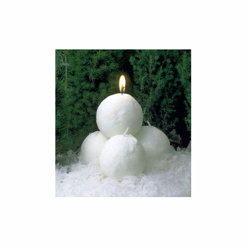 Danish Stearin White Snowball Candles (12 pack) - 3 Sizes - SOLD OUT