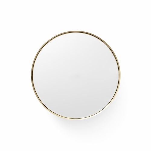Darkly Mirror, Medium, Brass