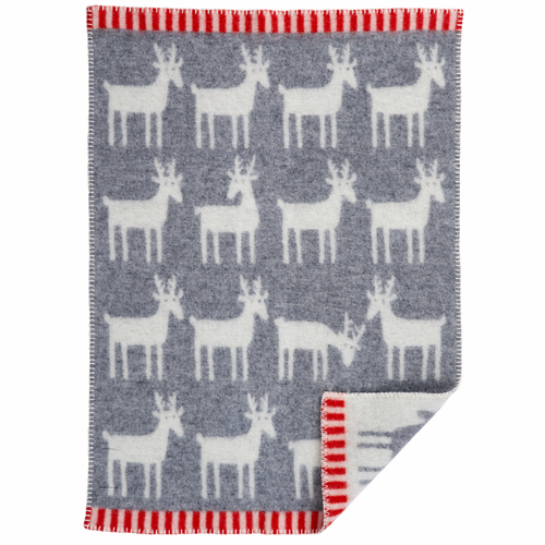 Dear ECO Wool Baby Blanket, Grey