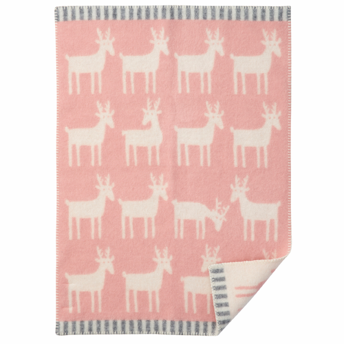 Dear ECO Wool Baby Blanket, Pale Pink