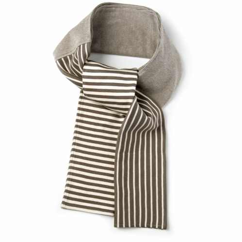 Design House Cotton Stripe Scarf (khaki/white) - SOLD OUT