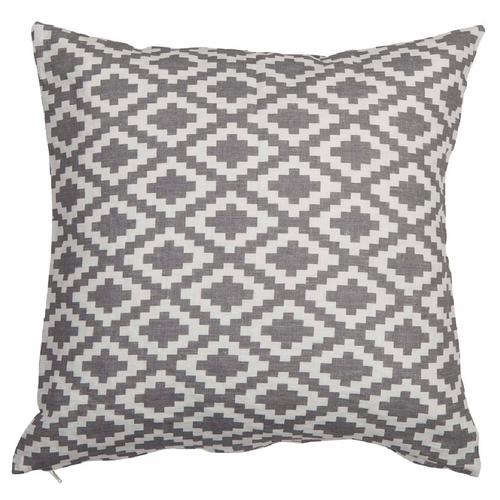 Diamond Linen Cushion Cover, Grey