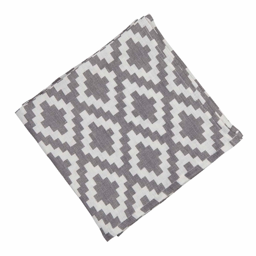 Diamond Linen Napkin, Grey
