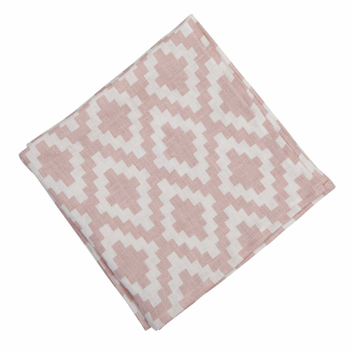 Diamond Linen Napkin, Pale Pink