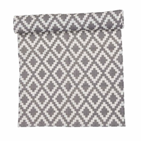 Klippan Diamond Linen Table Runner, Grey