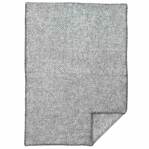 Klippan Domino Baby ECO Wool Blanket, Dark Grey