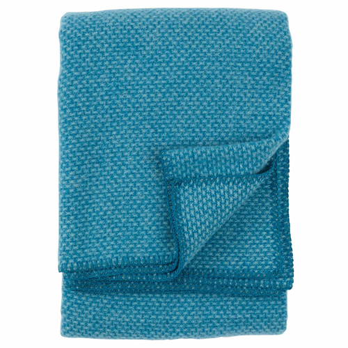 Domino Brushed Lambs Wool Throw, Petro