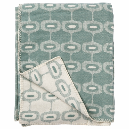 Klippan Doris Organic Brushed Cotton Blanket, Emerald