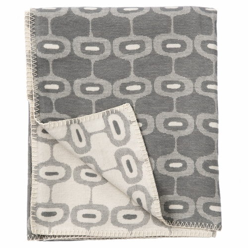 Doris Organic Brushed Cotton Blanket, Grey