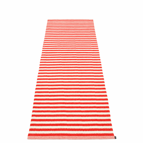 "Duo Plastic Rug - Coral Red/Vanilla, 33"" x 102"""