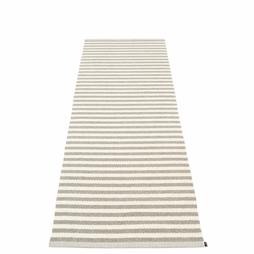 Duo Plastic Rug - Warm Grey/Vanilla, 2 3/4' x 8 1/2'