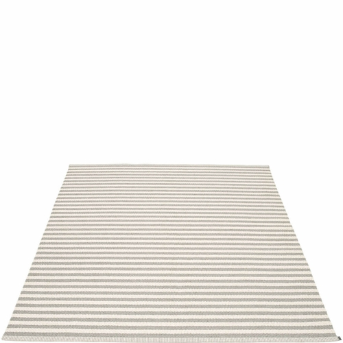 Duo Plastic Rug - Warm Grey/Vanilla, 6' x 7 1/4'