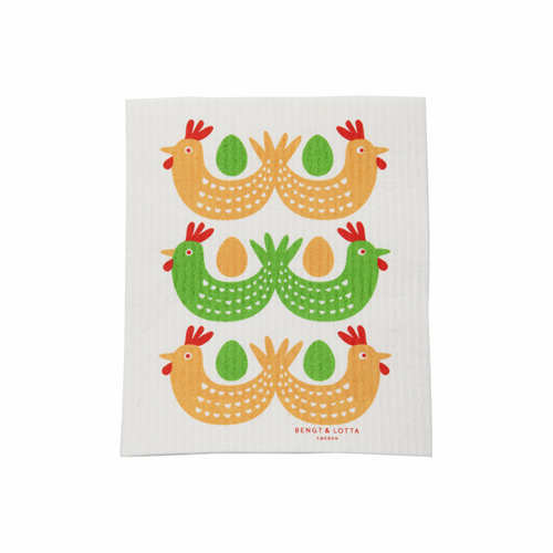 Easter Bird Dishcloth, Set of 2