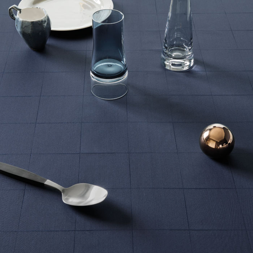 Engesvik by Hand Tablecloth, Blue Abyss