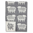 Får (Sheep) Wool Blanket - Gray